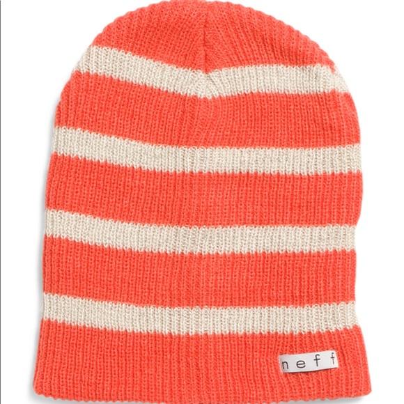 f18ea2ff2b3 Orange striped Neff beanie